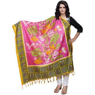 Lifetime Women Bhagalpuri/Tussar Silk Digital Print Pink Dupatta (80769-IW)