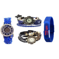 1 B1 Blue + 2 Vintage Blue And Black + 1 Led Blue