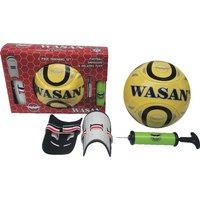 Wasan Football Pump Shinguard Training Set kit - 3Pcs