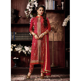Vastrani Lovely Embroidered Cotton Semi-Stitched Patry Wear Salwar Suit 312D1016