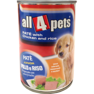 ALL4PETS PATE 400 GMS (WITH CHICKEN  RICE)