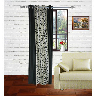 Gaurav Curtains Green Polyster colaveri curtain 2pcs