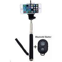 Universal Mobile Camera Selfie Stick With Bluetooth Shutter