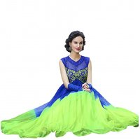florence clothing company Blue And Green Embroidered Gown Dress For Women