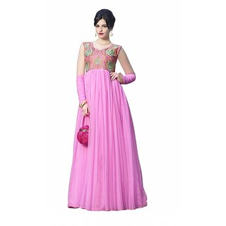 florence clothing company Pink Embroidered Gown Dress For Women