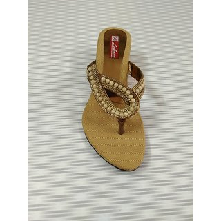 a2344c74b3bb0a Buy Fancy ladies chappal Antique color Online @ ₹425 from ShopClues
