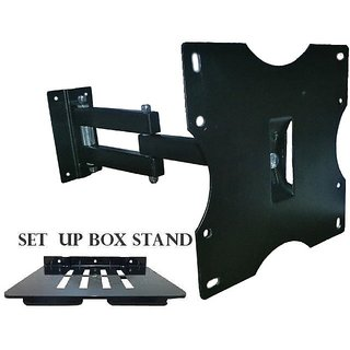 17  40 Swivel Tilt Wall Mount stand LCD / LED TV +  Set top Box Stand