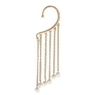 Crunchy Fashion Pearl Drop Ear Cuff