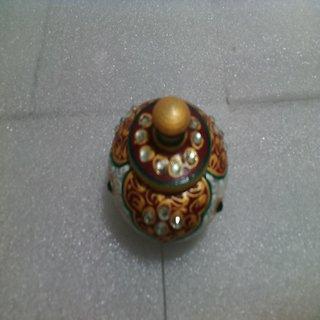 Marble Sindoor Round Dabi