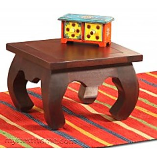 Opem solid wood side table