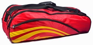 Li-Ning 2-in-1 Thermal Racket Bag(Double Belt) Red at Lowest Price