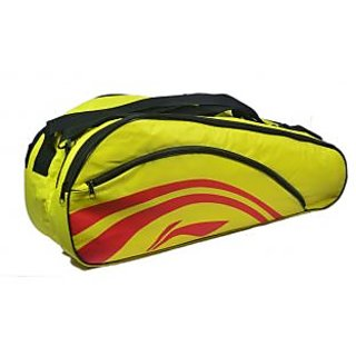 Li Ning 2 in 1 Thermal Racket Bag Double Belt  Yellow at lowest Price