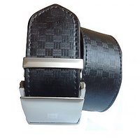 N/A Black Leatherite Belt