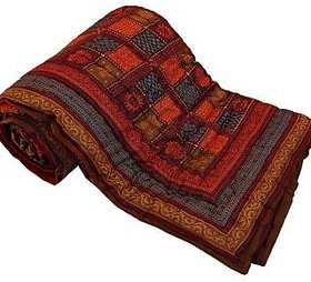 Krg Jaipuri Print Cotton Double Bed Razai Quilt -301