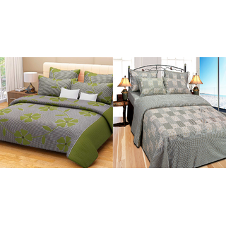 Fresh From Loom Cotton Double Bed Sheet - Buy one Get One Free (884-2pc)
