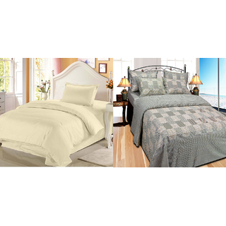 Fresh From Loom Cotton Double Bed Sheet - Buy one Get One Free (886-2pc)