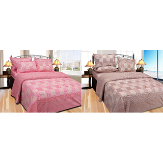 Fresh From Loom Cotton Double Bed Sheet - Buy one Get One Free (853-2pc)
