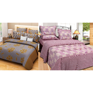 Fresh From Loom Cotton Double Bed Sheet - Buy one Get One Free (840-2pc)