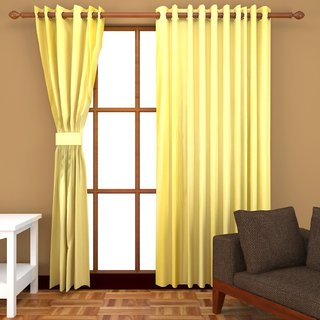 Fresh From Loom Polyester Long Door Curtain- Set of two (763-Crush)