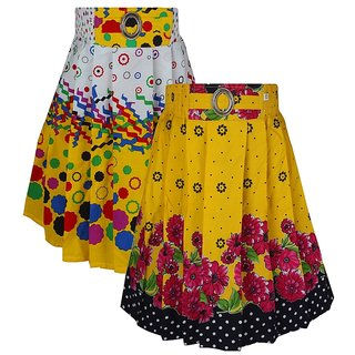 Jazzup Printed Pack Of 2 Girls Skirts
