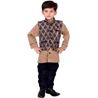 Kids ethnic dresses baby clothing boys Blue kurta pajama with Modi Jacket