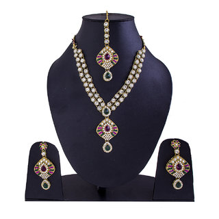 Jewelroom Rajasthani Multi Colour  Neckles