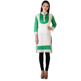 MDR Collection Nice Green Cotton Kurti