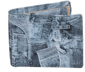iLiv Blue Jeans Printed Wallet - BWT270-109