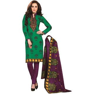 Drapes Brown Dupion Silk Lace Salwar Suit Dress Material