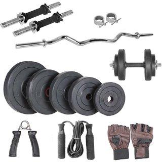 Body Maxx 72kg home gym 14 inch dumbells rod,1 curl rod,accessories
