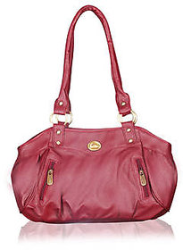 Fostelo Swann Magenta Leather Handbag