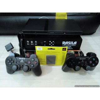 NEW SONY PS2 160gb hdd Console+80 internal games+2remot+64mb mmc+1yr hdd  waranty