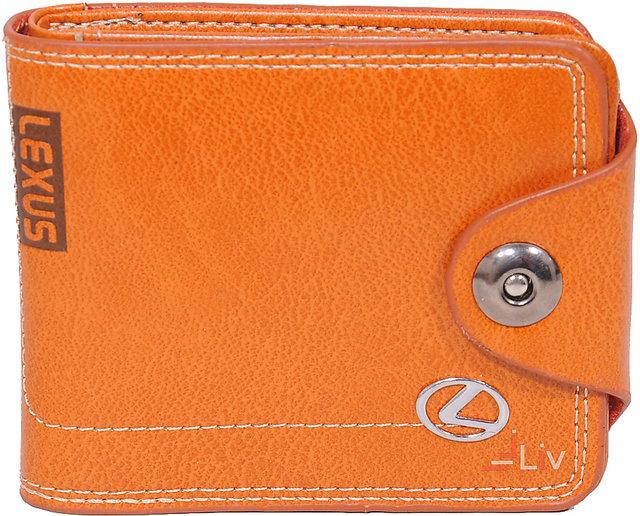 ac9dbfa9e711 iLiv Lexus Orange Stylish Wallet (Synthetic leather/Rexine)