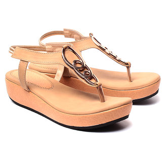 Ruby Womens Decent Beige Fashion Sandals