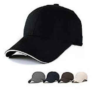 Men s Black and White Color Stylish Caps 7ab510417b2