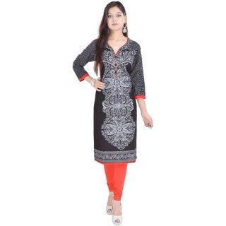 Vihaan Impex Indian Instyle Black Jaipuri Cotton Kurti