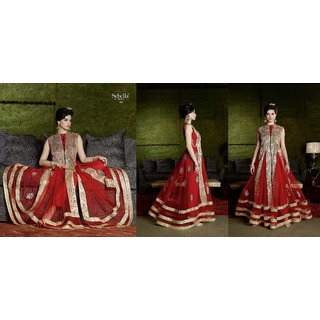 Sybella Georgette,Net Based Semi Stitched Designer Suit  By Bella