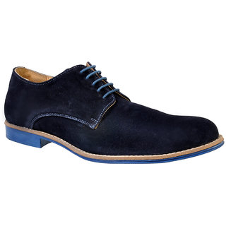 Hirels Blue Suede Derby Shoes