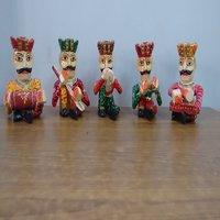 Handmade Wooden Musician Set