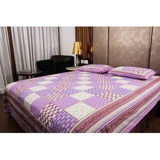 Pure Cotton Multicolor Printed Jaipuri Design Sanganeri Print Double Bedsheet