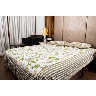 Pure Cotton Multi-Color Design Sanganeri Print Double Bedsheet