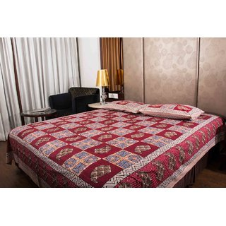 Pure Cotton Multicolor Floral Print Sanganeri Print Double Bedsheet