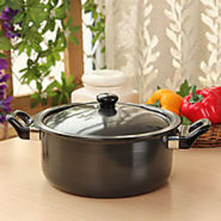 Dailyware Hard Anodized Casserole,2 Ltr.,With Anodized Lid  Bakelite Handles