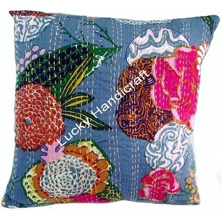 5 pec Designer Kantha Cushion Covers