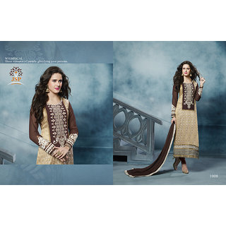 Magnet, Designer Straight Cambric Cotton Salwar Suit, Party Wear Straight Salwar