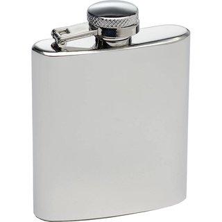 8oz Silver Hipflask by Flintstop