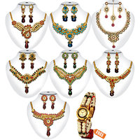 Dg Jewels Celebration 1Gram Gold Plated Wedding Jewellery Collection