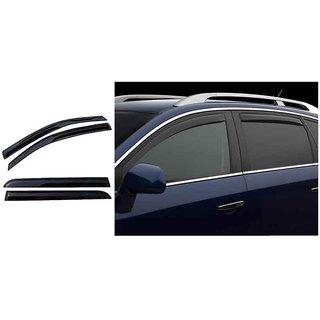 Takecare Chrome Finish Milding Door Visor For Chevrolet Spark