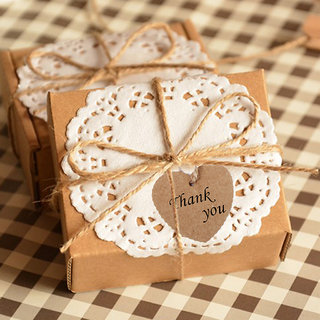 Phenovo Kraft Paper Blank Card Hand Draw Gift Tags Heart Label 100pcs Brown
