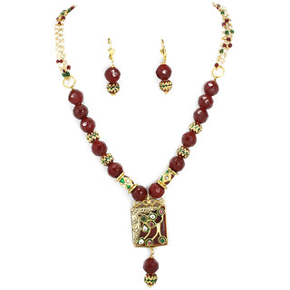 Pendant set with deats mala For Women Party wear